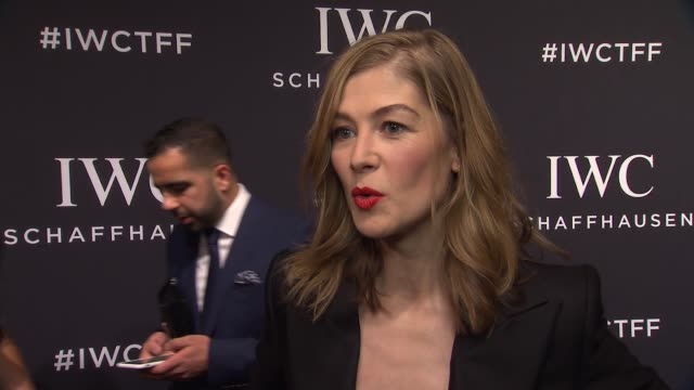 interview – rosamund pike on what she'd like to see at tff on her involvement with iwc and their support of filmmakers at iwc schaffhausen 5th annual... - rosamund pike stock videos & royalty-free footage