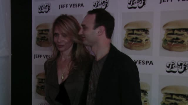 rosanna arquette and jeff vespa at the jeff vespa's eat me art show opening at the lofi gallery in los angeles, california on may 4, 2006. - rosanna arquette stock videos & royalty-free footage