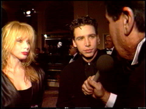 rosanna arquette at the 1988 golden globe awards at the beverly hilton in beverly hills, california on january 23, 1988. - rosanna arquette stock videos & royalty-free footage