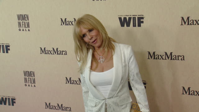 rosanna arquette at the 2019 women in film annual gala presented by max mara with additional support from partners delta air lines and lexus - delta air lines stock-videos und b-roll-filmmaterial