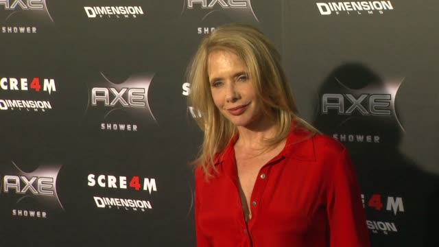 vídeos y material grabado en eventos de stock de rosanna arquette at the axe shower presents the world premiere of 'scream 4' at hollywood ca. - scream named work