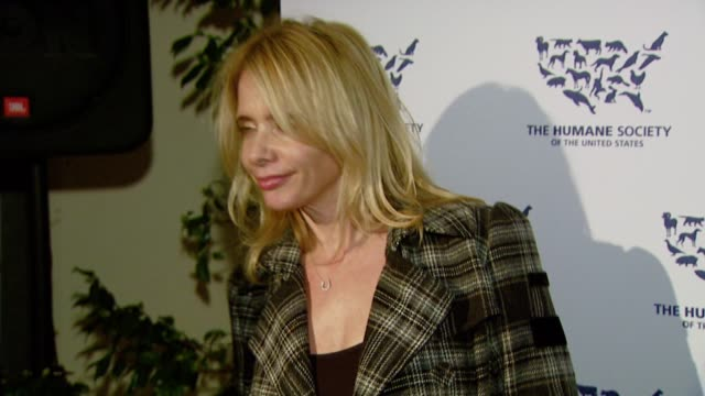 rosanna arquette at the 'hollywood goes humane - celebrating the humane society of the united states' at private residence in hollywood, california... - rosanna arquette stock videos & royalty-free footage