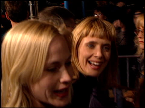 rosanna arquette at the 'jackie brown' premiere at the mann village theatre in westwood, california on december 11, 1997. - rosanna arquette stock videos & royalty-free footage