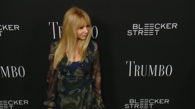 rosanna arquette at the trumbo los angeles premiere at the academy of motion picture arts and sciences on october 27 2015 in beverly hills california - academy of motion picture arts and sciences stock-videos und b-roll-filmmaterial
