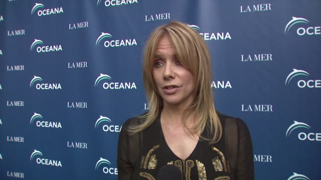 rosanna arquette on being a part of the night why protecting the oceans is so important why she is supporting oceana how people can help save the... - oceana stock videos & royalty-free footage