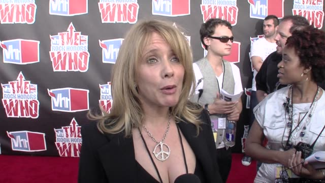 rosanna arquette, the who at the vh1 rock honors at los angeles ca. - rosanna arquette stock videos & royalty-free footage