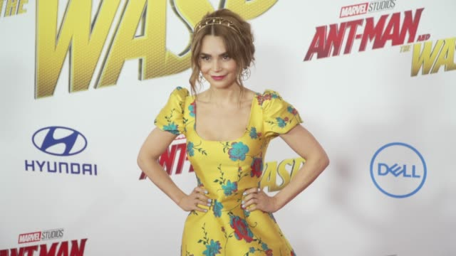 Rosanna Pansino at the 'AntMan and the Wasp' World Premiere at the El Capitan Theatre on June 25 2018 in Hollywood California