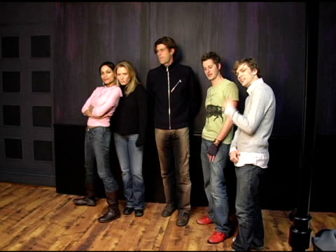 rosario dawson amy redford stephen marshall nathan crooker and brendan sexton iii of 'this revolution' at the 2005 hp portrait studio presented by... - dawson city stock videos and b-roll footage