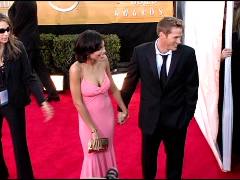rosario dawson and jason lewis at the 2005 screen actors guild sag awards arrivals at the shrine auditorium in los angeles california on february 5... - rosario dawson stock videos and b-roll footage