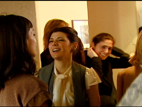 rosario dawson and marisa tomei at the v-day and glamour honor women in conflict zones working for peace on february 21, 2007. - marisa tomei stock videos & royalty-free footage