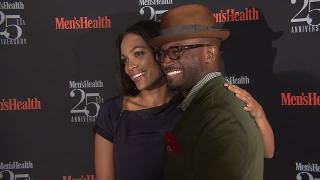 Rosario Dawson and Taye Diggs at Men's Health Celebrates 25th Anniversary at Isola Mondrian Soho Hotel on October 09 2013 in New York New York