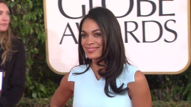 rosario dawson at 70th annual golden globe awards - arrivals on 1/13/13 in los angeles, ca . - rosario dawson stock videos & royalty-free footage