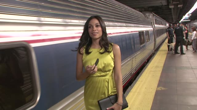 rosario dawson at amtrak presents the 5th annual national train day at grand central station new yorky at grand central station new york at grand... - rosario dawson stock videos and b-roll footage