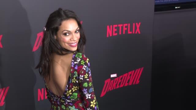 rosario dawson at daredevil season 2 premiere at amc loews lincoln square on march 10 2016 in new york city - rosario dawson stock videos and b-roll footage