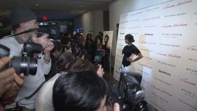 vídeos de stock, filmes e b-roll de rosario dawson at 'gimme shelter' new york screening at moma at the museum of modern art on in new york city - dawson city