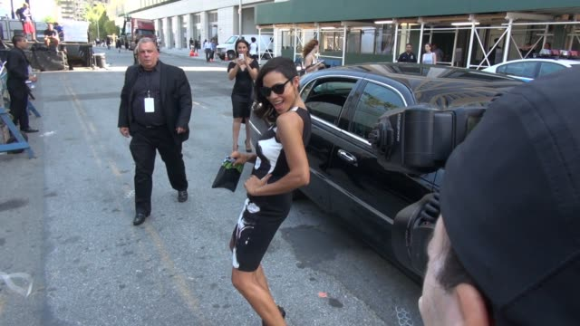 rosario dawson at lincoln center going into mercedesbenz fashion week spring 2015 on september 04 2014 in new york city - rosario dawson stock videos and b-roll footage