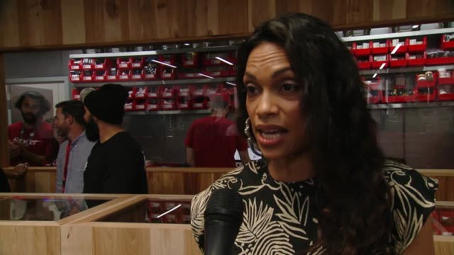 rosario dawson at medmen celebrates the opening of abbot kinney store with a ribbon cutting ceremony featuring congressman ted lieu and senator ben... - rosario dawson stock videos & royalty-free footage
