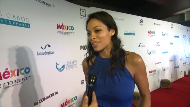 interview rosario dawson at rosario dawson attends closing night of the los cabos international film festival in cabo san lucas mx on - rosario dawson stock videos and b-roll footage