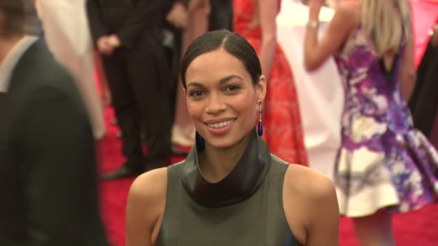 rosario dawson at schiaparelli and prada impossible conversations costume institute gala at metropolitan museum of art on may 07 2012 in new york new... - rosario dawson stock videos and b-roll footage