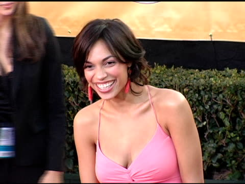 rosario dawson at the 2005 screen actors guild sag awards arrivals at the shrine auditorium in los angeles california on february 5 2005 - rosario dawson stock videos and b-roll footage