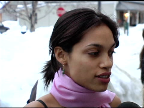 rosario dawson at the 2005 sundance film festival 'this revolution' premiere at the library theater in park city utah on january 26 2005 - dawson city stock videos and b-roll footage