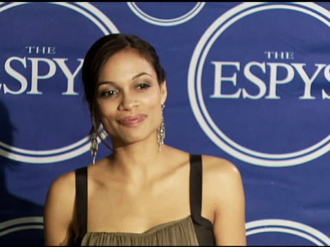 rosario dawson at the 2006 espy awards press room at the kodak theatre in hollywood california on july 12 2006 - rosario dawson stock videos and b-roll footage