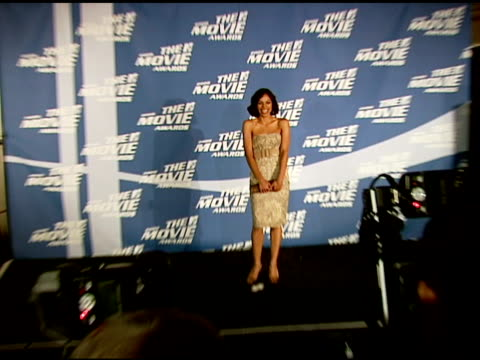 rosario dawson at the 2006 mtv movie awards press room at sony pictures studios in culver city california on june 3 2006 - rosario dawson stock videos and b-roll footage