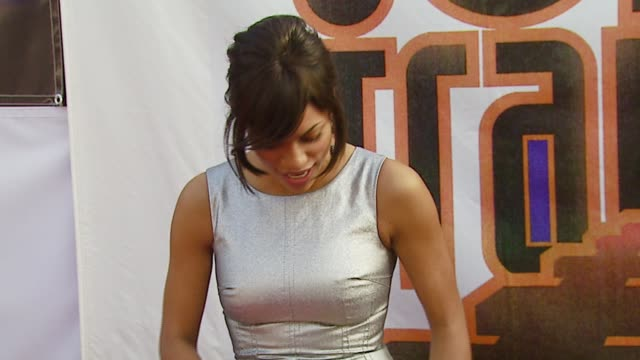 rosario dawson at the 21st annual soul train music awards at pasadena civic auditorium in pasadena california on march 11 2007 - rosario dawson stock videos and b-roll footage