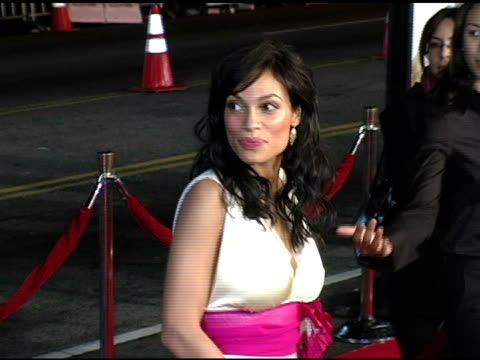 rosario dawson at the 'alexander' premiere arrivals at grauman's chinese theatre in hollywood california on november 16 2004 - rosario dawson stock videos and b-roll footage