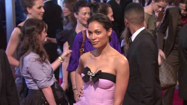 rosario dawson at the 'american woman fashioning a national identity' met gala arrivals at new york ny - rosario dawson stock videos and b-roll footage