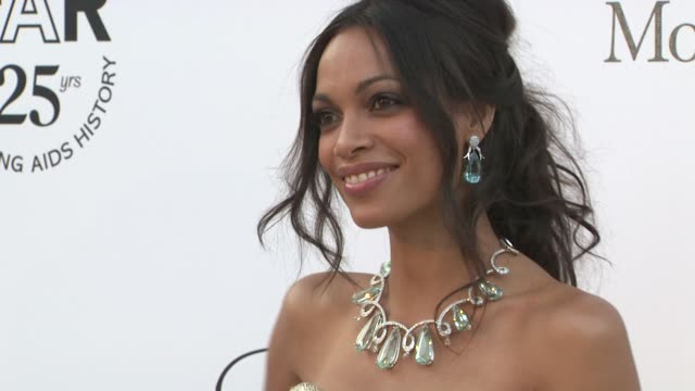 rosario dawson at the amfar gala red carpet arrivals : 64th cannes film festival at antibes . - cannes stock videos & royalty-free footage