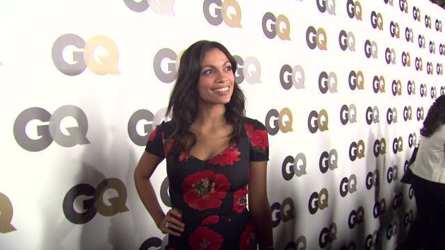 rosario dawson at the gq's 'men of the year' party at los angeles ca - rosario dawson stock videos and b-roll footage
