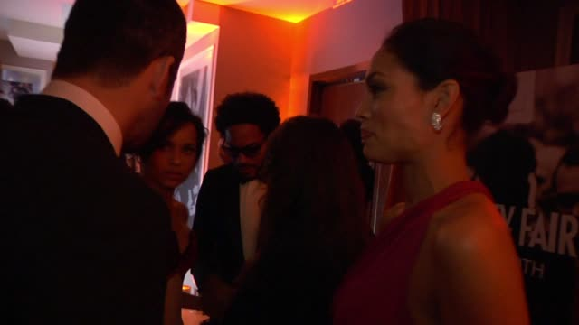 rosario dawson at the inside the vanity fair oscar party 2010 at west hollywood ca - oscar party stock videos & royalty-free footage
