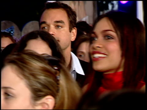 rosario dawson at the 'josie and the pussycats' premiere at galaxy theatre in hollywood, california on april 9, 2001. - rosario dawson stock videos & royalty-free footage