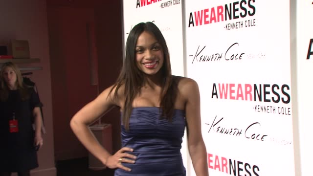 rosario dawson at the kenneth cole hosts book launch for 'awearness inspiring stories about how to make a difference' at new york city new york - dawson city stock videos and b-roll footage