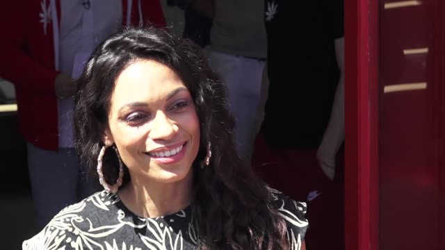 rosario dawson at the medmen opens a shop on venice's abbot kinney boulevard in venice beach in celebrity sightings in los angeles - rosario dawson stock videos and b-roll footage