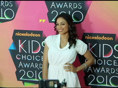rosario dawson at the nickelodeon's 23rd annual kids' choice awards arrivals part 2 at los angeles ca - rosario dawson stock videos and b-roll footage