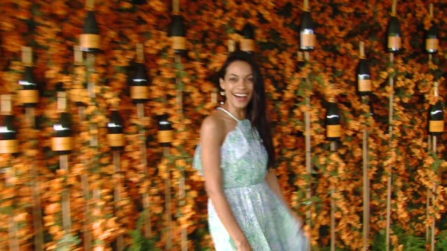 rosario dawson at the ninth-annual veuve clicquot polo classic los angeles at will rogers state historic park on october 06, 2018 in pacific... - rosario dawson stock videos & royalty-free footage