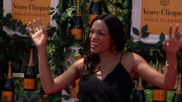 rosario dawson at the sixthannual veuve clicquot polo classic in support of liberty state park at liberty state park on june 01 2013 in jersey city... - rosario dawson stock videos and b-roll footage