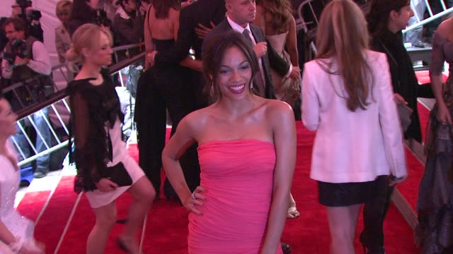 rosario dawson at the 'the model as muse embodying fashion' costume institute gala at the metropolitan museum of art arrivals at new york ny - rosario dawson stock videos and b-roll footage
