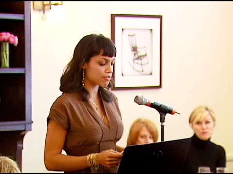 rosario dawson at the vday and glamour honor women in conflict zones working for peace on february 21 2007 - rosario dawson stock videos and b-roll footage
