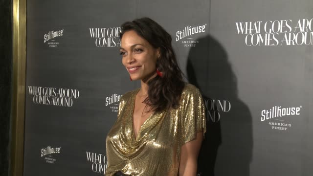 rosario dawson at what goes around comes around beverly hills anniversary in los angeles ca - rosario dawson stock videos and b-roll footage