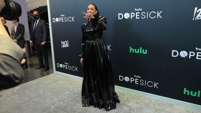 """rosario dawson attends the premiere for hulu's """"dopesick"""" at museum of modern art on october 04, 2021 in new york city. - rosario dawson stock videos & royalty-free footage"""