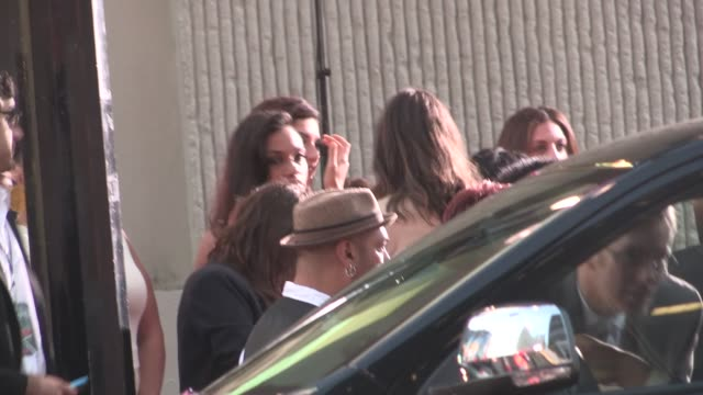 rosario dawson exchanges greeting while arriving at the sin city a dame to kill for premiere in hollywood in celebrity sightings in los angeles - dawson city stock videos and b-roll footage