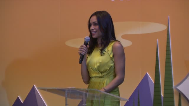 Rosario Dawson introduces herself as spokeperson for Amtrak National Train Day at Amtrak Presents The 5th Annual National Train Day At Grand Central...