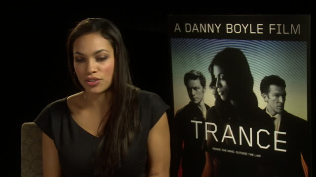 interview rosario dawson on hypnosis being hypnotised how it felt at 'trance' uk junket interviews at soho hotel on march 19 2013 in london england - hypnosis stock videos and b-roll footage