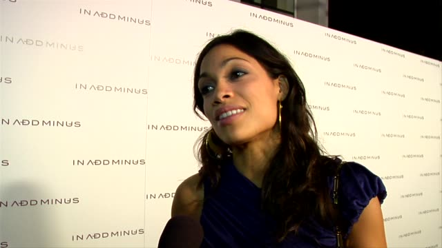 rosario dawson on wearing in add minus, gifts for the holidays, what she's doing for the holidays, pressures young people in hollywood face and how... - rosario dawson stock videos & royalty-free footage