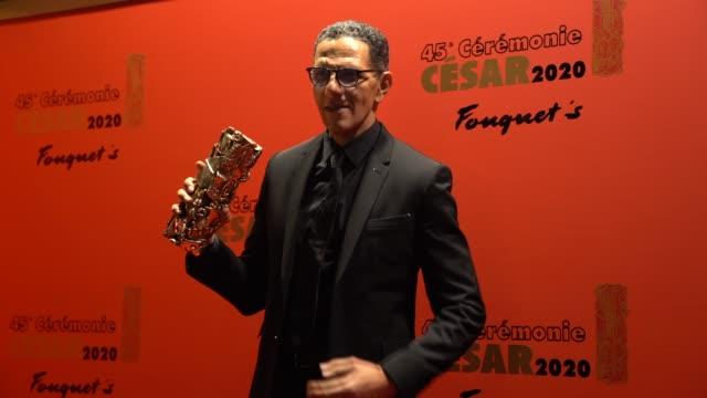 vidéos et rushes de roschdy zem attends the dinner at le fouquet's, as part of the cesar film awards 2020, on february 28, 2020 in paris, france. - cesar