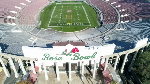 rose bowl, pasadena, california - pasadena california stock videos & royalty-free footage
