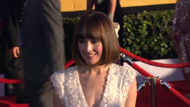 rose byrne at 18th annual screen actors guild awards arrivals on 1/29/2012 in los angeles ca - rose byrne stock videos and b-roll footage